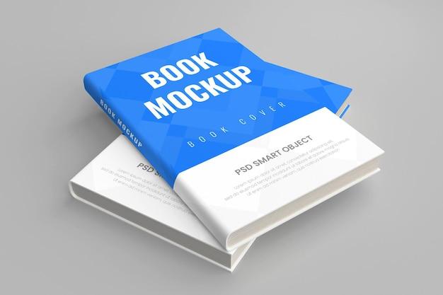 リアルなハード3dブックカバーモックアップ