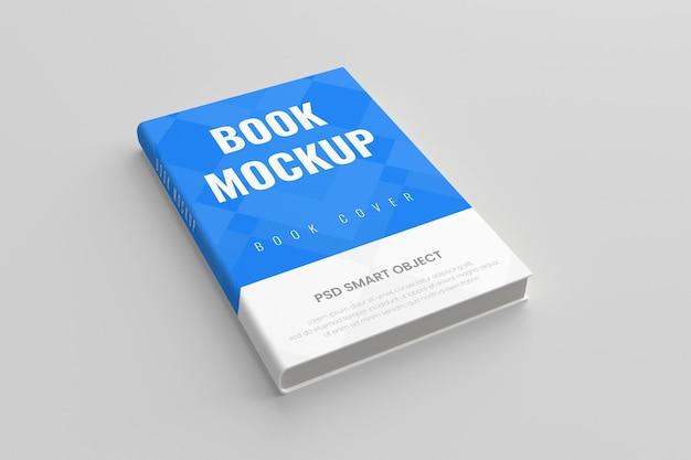 Realistic hard 3d book cover mockup
