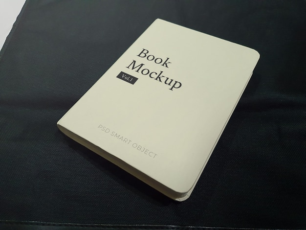 Realistic hard cover book mockup