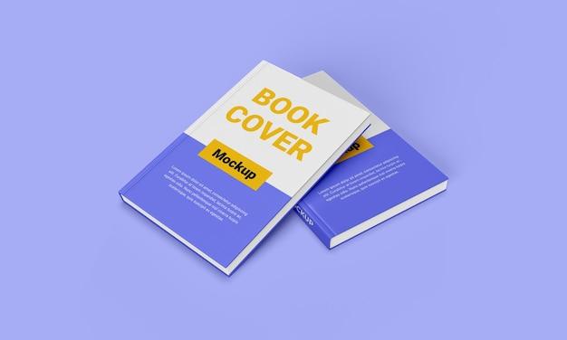 Realistic hard cover book mockup