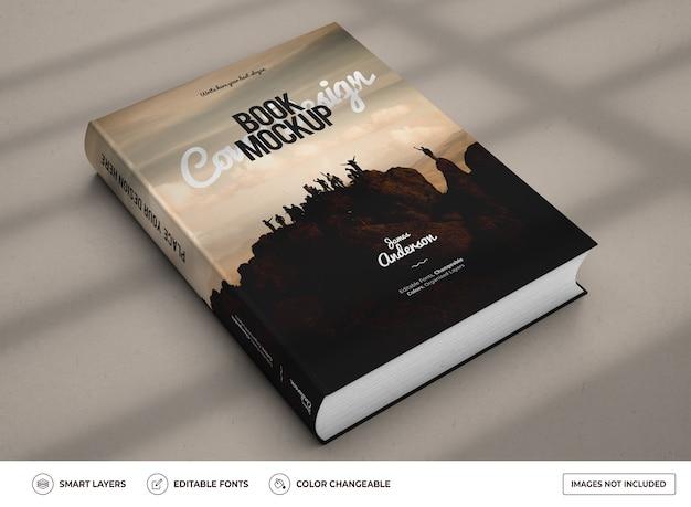 Realistic hardcover book mockup design