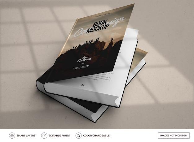 Реалистичный дизайн макета книги в твердом переплете