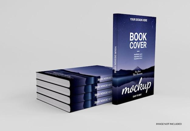 リアルなハードカバーの本のモックアップデザイン
