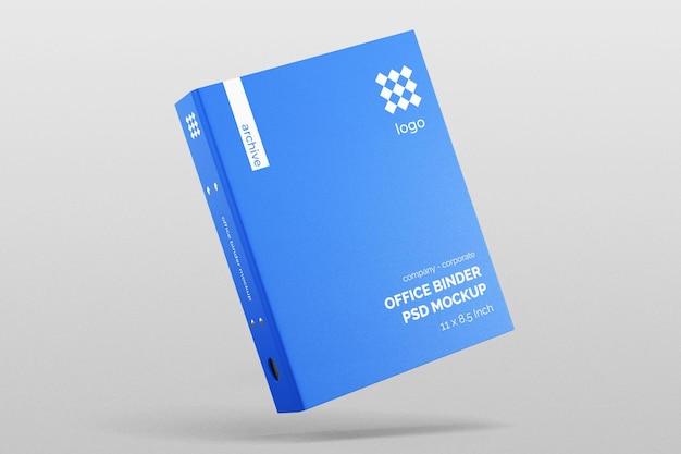 現実的なハードカバー会社のオフィスファイルバインダーノートブックモックアップ