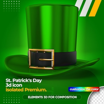 Realistic hat for st patrick's day render