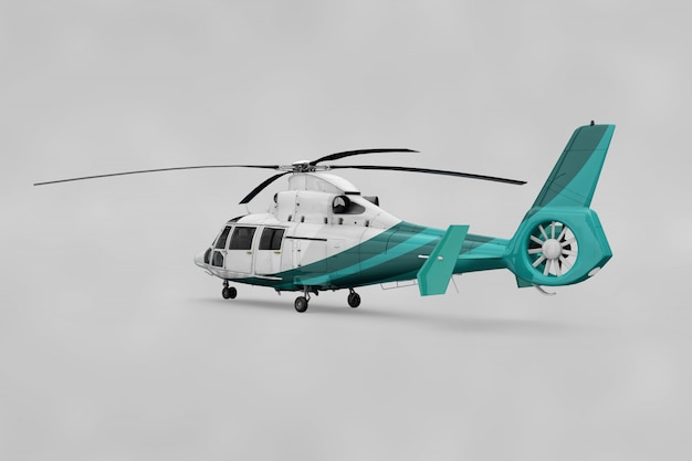 Realistic helicopter mockup
