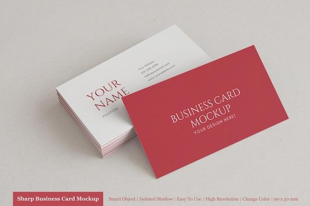 Шаблон макета реалистичные горизонтальные современной визитной карточки с фактурной бумагой