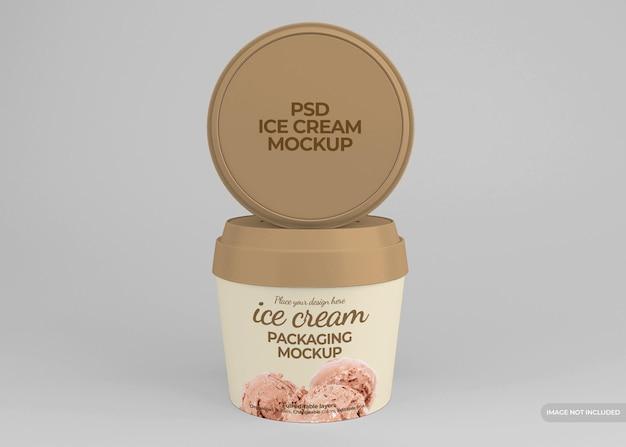 현실적인 아이스크림 포장 모형