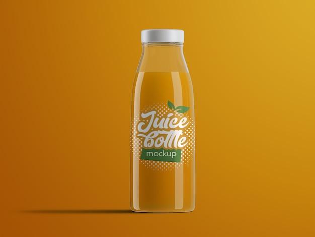 Реалистичный изолированный макет упаковки пластиковой бутылки фруктового сока