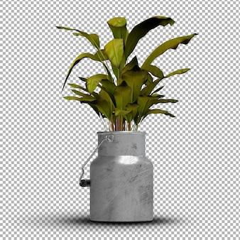 現実的な孤立した鉢植えのレンダリング