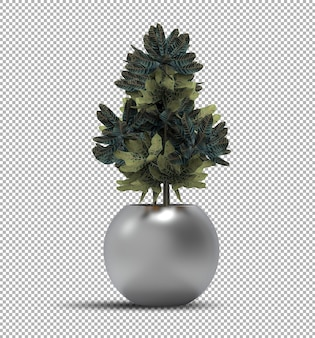 Реалистичная визуализация изолированных горшечных растений