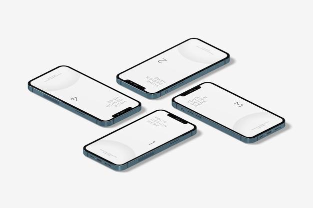 Реалистичный изометрический макет смартфона