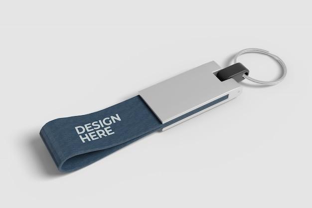Realistic keychain mockup