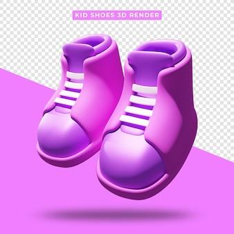 현실적인 아이 신발 3d 렌더링