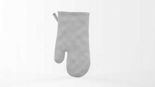 Реалистичная кухонная рукавица, изолированная на белом