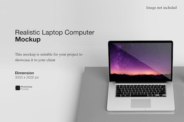 현실적인 노트북 컴퓨터 모형