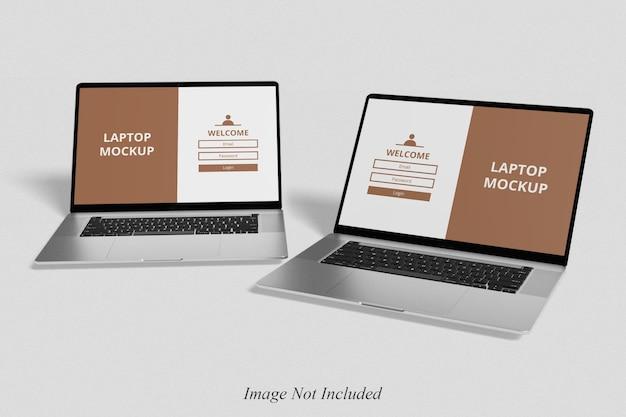 Реалистичный макет ноутбука