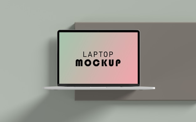Realistic laptop top view mockup free psd