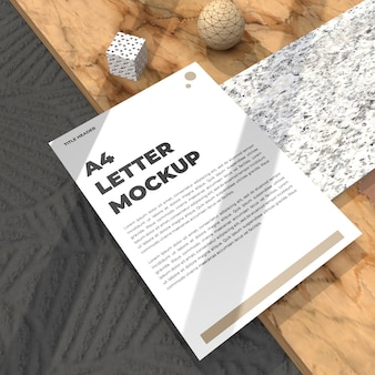 Realistic letter mockup flyer for cv poster and advertisement mockup