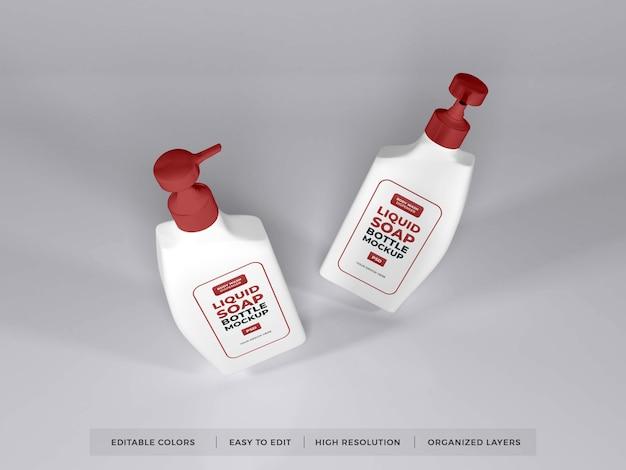 現実的な液体石鹸ボトル包装モックアップ