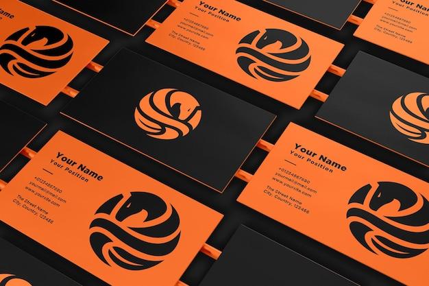 Реалистичный макет логотипа и визитки