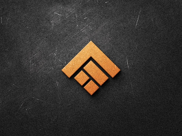 Realistic logo mockup design