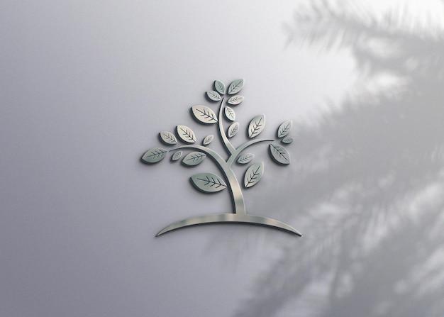 Реалистичный дизайн макета логотипа