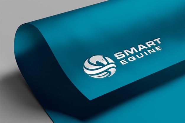 Реалистичный макет логотипа на бумаге
