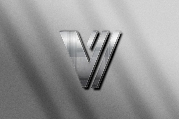Realistic logo mockup on white paper