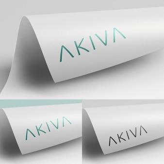 Realistic logotype presentation