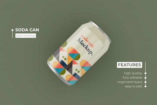 현실적인 긴 금속 음료는 모형 디자인을 할 수 있습니다