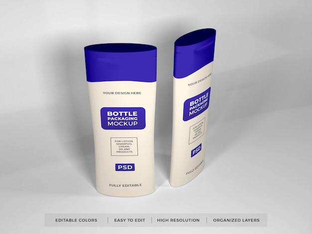 Реалистичный макет лосьона, крема и бутылки шампуня