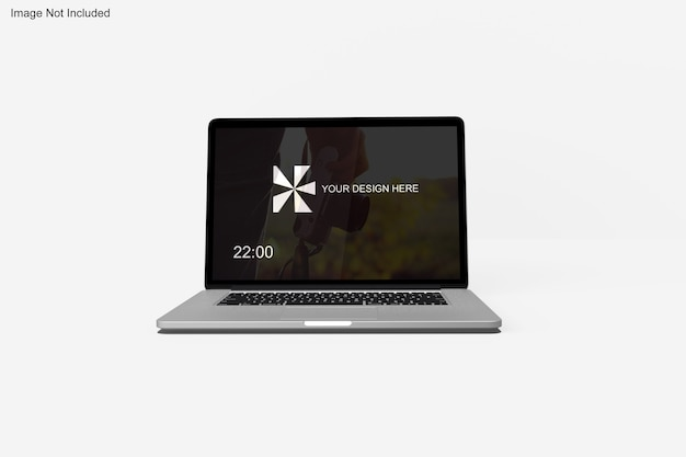 Realistic macbook mockup