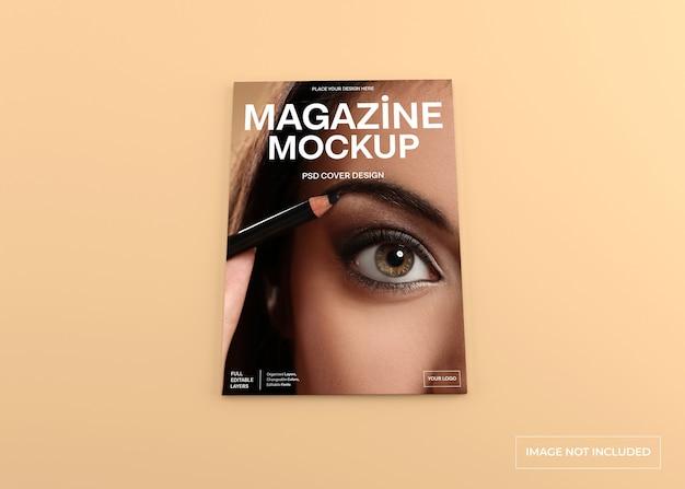 Realistic magazine cover mockup isolated