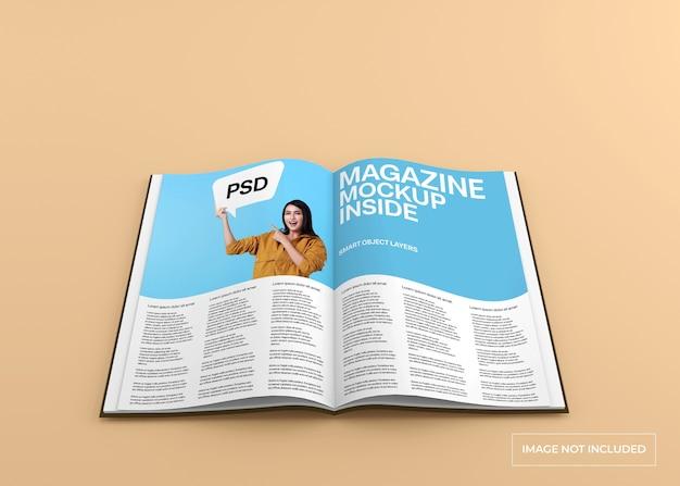 Realistic magazine mockup isolated
