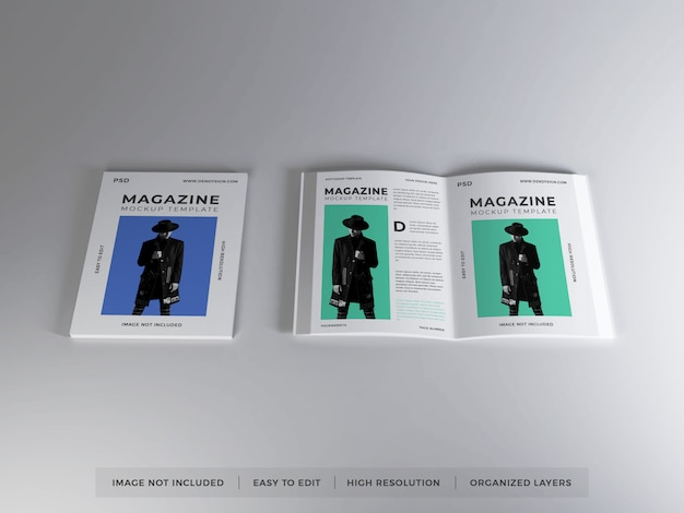 현실적인 잡지 이랑 템플릿
