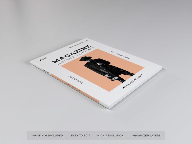Реалистичный шаблон макета журнала