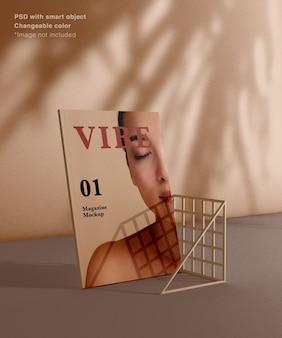 Реалистичная боковая сетка журнала