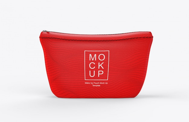 Realistic makeup pouch mockup