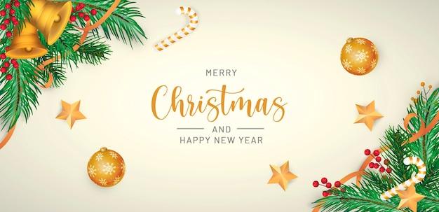 Реалистичный фон с рождеством