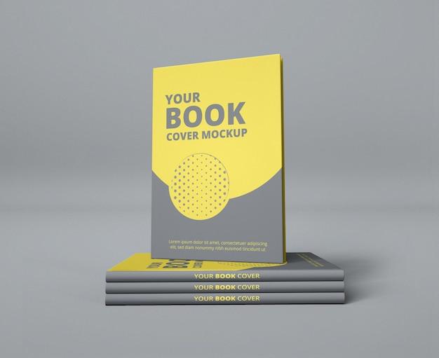 Realistic minimal book cover design mockup