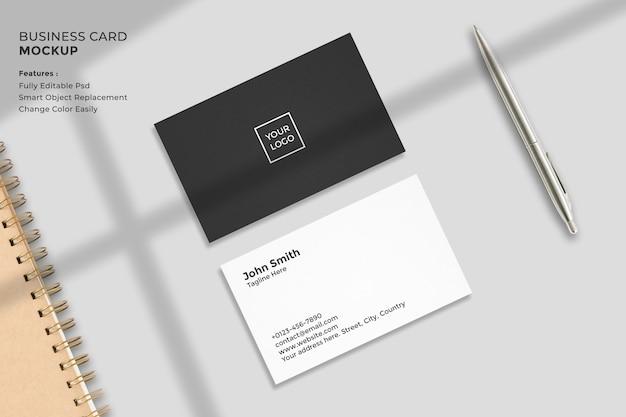 Realistic minimal business card mockup