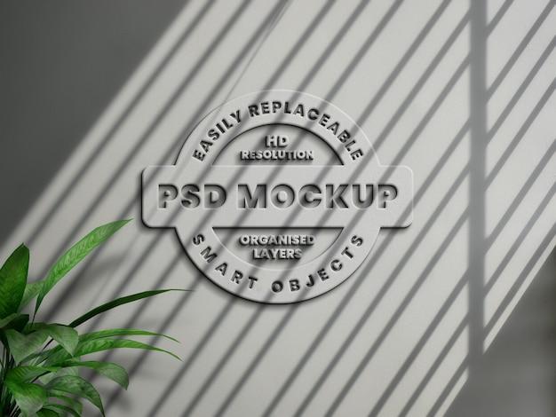 Реалистичный минимальный белый макет логотипа