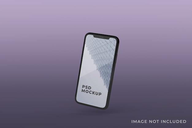 현실적인 휴대 전화 화면 모형 부동
