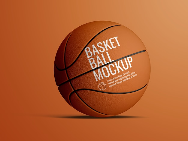 Realistic mockup of basketball ball isolated