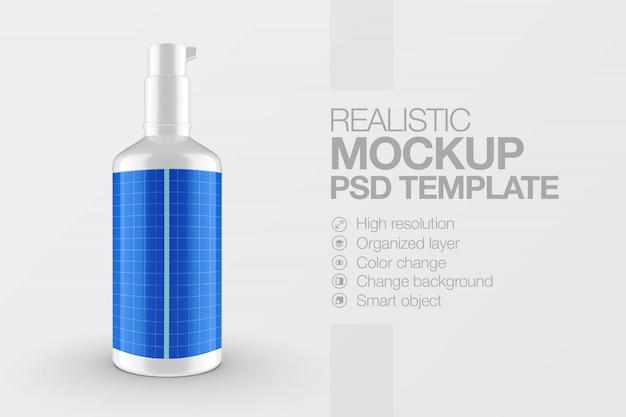 Реалистичный макет косметической бутылки с распылителем