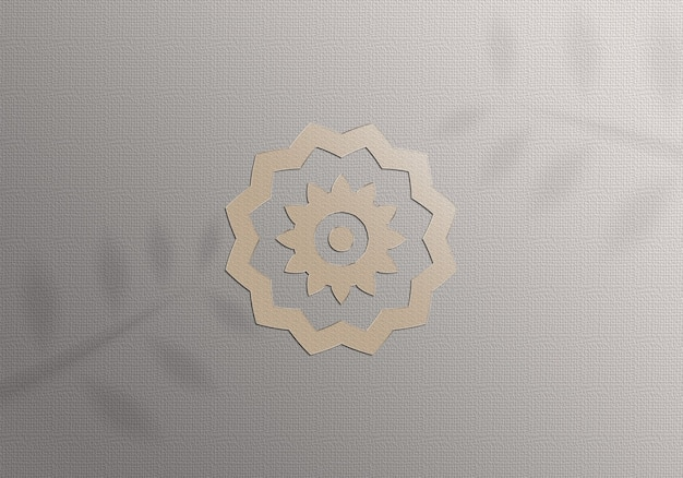 Realistic mockup golden logo on paper