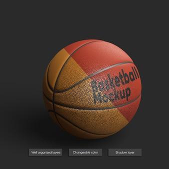 고립 된 농구 공의 현실적인 이랑