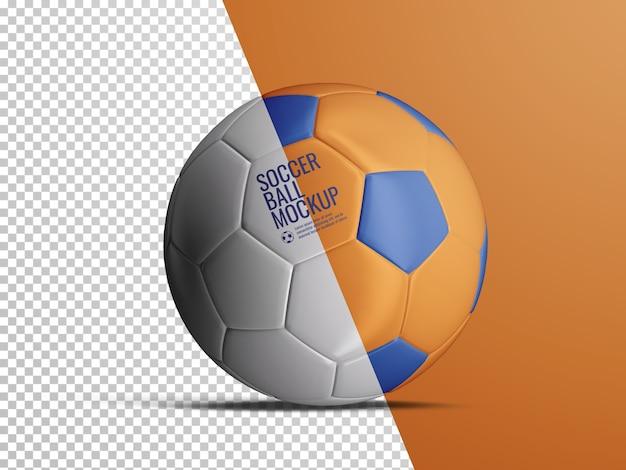 孤立したサッカーサッカーボールの現実的なモックアップ