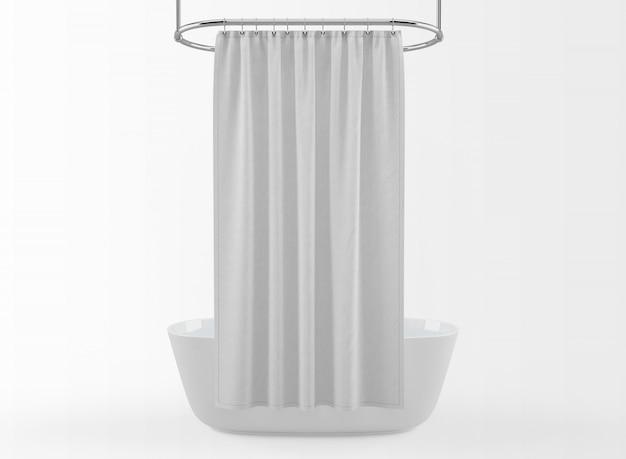 현실적인 현대 목욕 흰색 절연